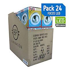 Pack 24 focos R63 fijos blancos