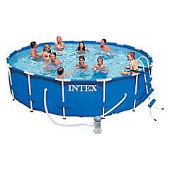 Set de piscina estructural 457x84 cm con accesorios