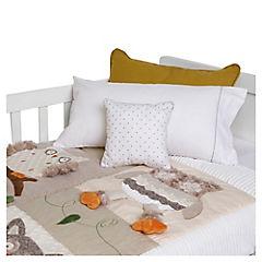 Cobertor de bebé 90x120 cm búho crema