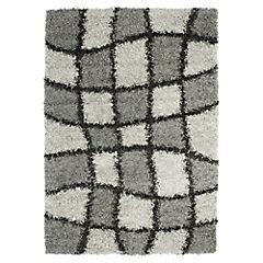 Alfombra New Shaggy 120x170 cm gris