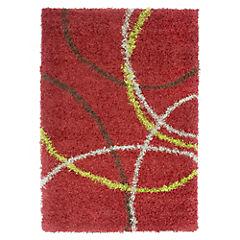 Alfombra shaggy 120x170 cm rojo