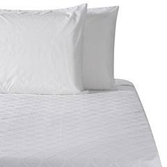 Colcha Leste blanco 100% algodón súper king