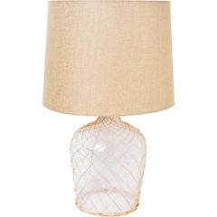 Lámpara de Mesa 60W botella rafia E27