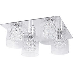 Lámpara de Techo 40W cristales 4 luces G9