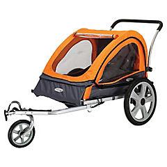Carro de bebé para bicicleta 86x20x73cm metal