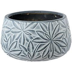 Macetero de cerámica 31x17 cm Gris