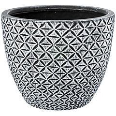 Macetero de cerámica 35x26 cm gris