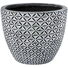 Macetero de cerámica 27x22 cm gris