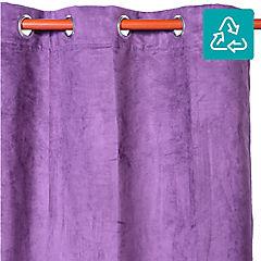 cortina suede 140x220 cm morada - Cortinas Moradas