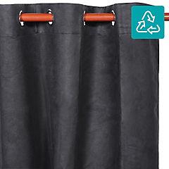 Cortina Suede 140x220 cm negra