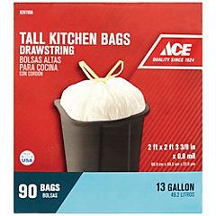 Caja de 90 bolsas para basura 49 litros blanca