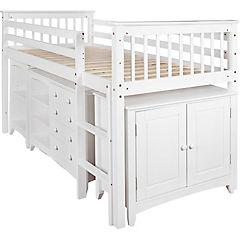 Cama infantil 1 plaza 120x102x200 cm blanco