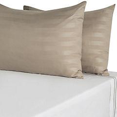 Set de 2 fundas para almohada 50x70 cm taupe