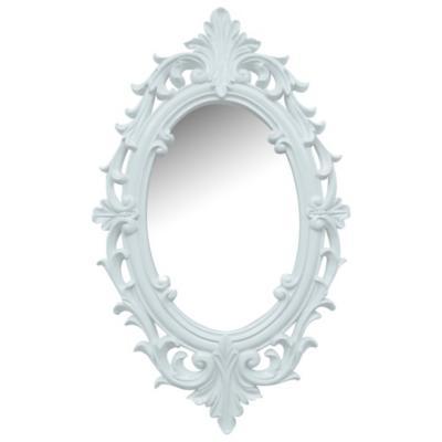 Espejo Ovalado 30x50 Cm Vintage Blanco