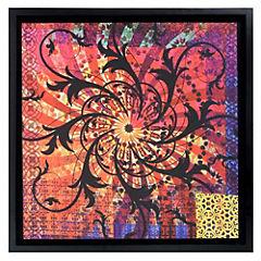 Cuadro textil violeta 68x68 cm