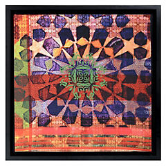 Cuadro textil morado 68x68 cm