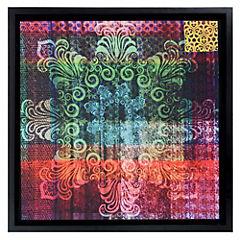Cuadro textil verde 68x68 cm