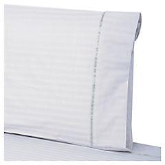 Juego de sábanas 230 hilos 1,5 plazas blanco
