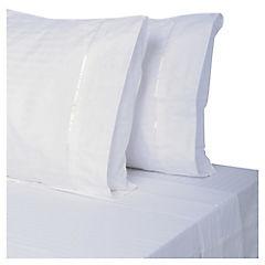 Juego de sábanas 230 hilos 2 plazas blanco