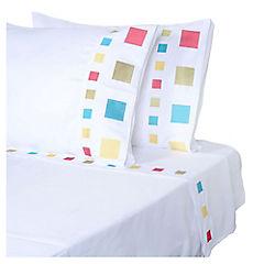 Juego de sábanas microfibra 2 plazas blanco