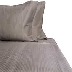 Quilt satín superior taupe king