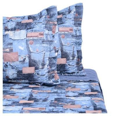 Quilt jeans 2 plazas for Falabella combos camas