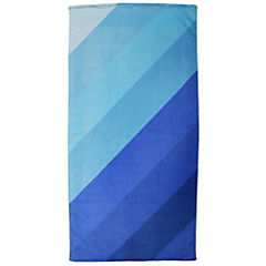 Toalla de playa rayas azul 80x160 cm