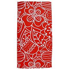 Toalla de playa flores roja 80x160 cm