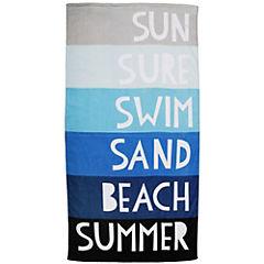 Toalla de playa letras 75x150 cm