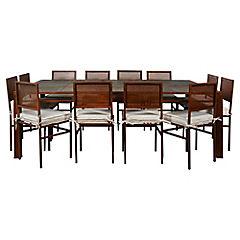 Comedor rectangular diseño piedras con 12 sillas
