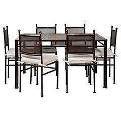 Comedor rectangular 6 personas silla tubo