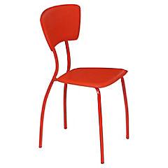 Set 4 sillas Asia poliuretano rojo