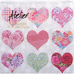 Juego de servilletas papel 33x33 cm Corazón patch 20 unidades