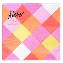 Servilleta de papel 33x33 cm ángulos rosados