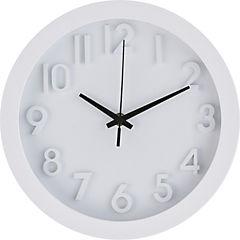 Reloj borde blanco 25 cm números 3D