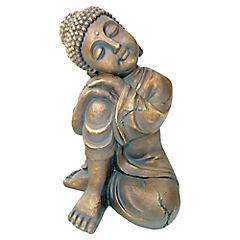 Buda decorativo 38x24x25,5 cm cerámica dorado
