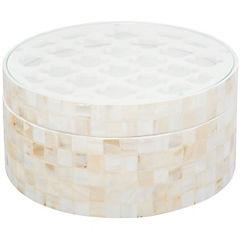 Caja decorativa 12x25 cm MDF Nacarado