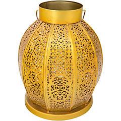 Farol metálico dorado Antique 22x18 cm