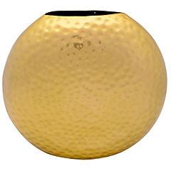 Vasija hexagonal dorada 29x9x25 cm