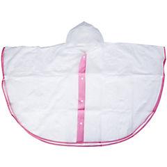 Poncho transparente rosad 5 a 6 años