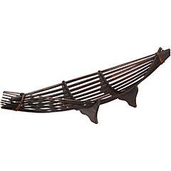 Centro de mesa 18,5x65x16 cm bambú Café
