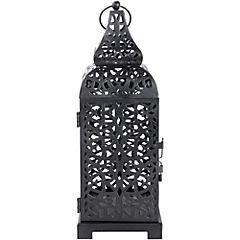 Portavela Tiffany 16.5 cm negro