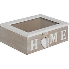 Caja de madera home 20x14x7 cm