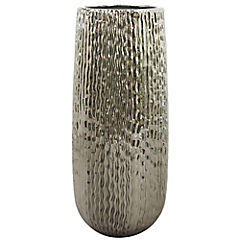 Florero de cerámica plata 21.5 cm