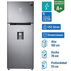 Refrigerador no frost 452 litros silver