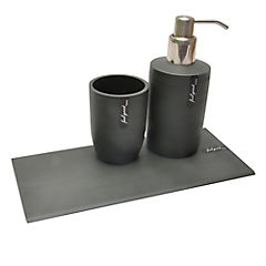 Set 3 piezas de baño Fin gris oscuro
