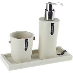 Set 3 piezas de baño Well piedra blanca