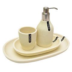 Set 4 piezas de baño Village blanco