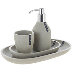 Set 4 piezas de baño Village gris claro