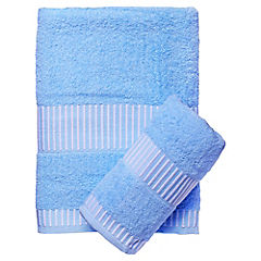 Set de 2 toallas Egyptia celeste